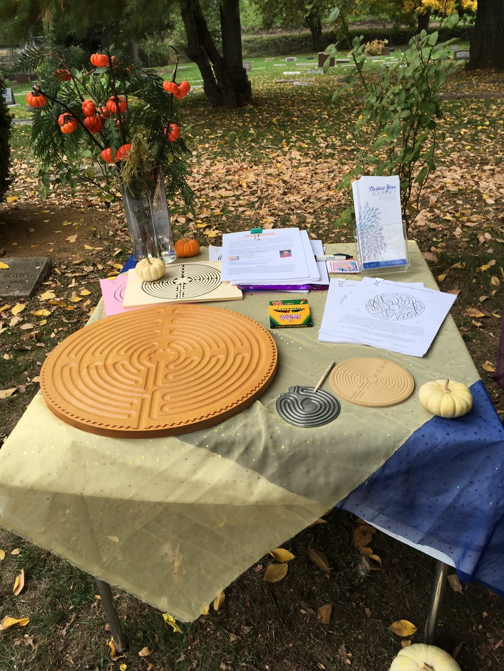 Promoting my work at the Harvest Festival