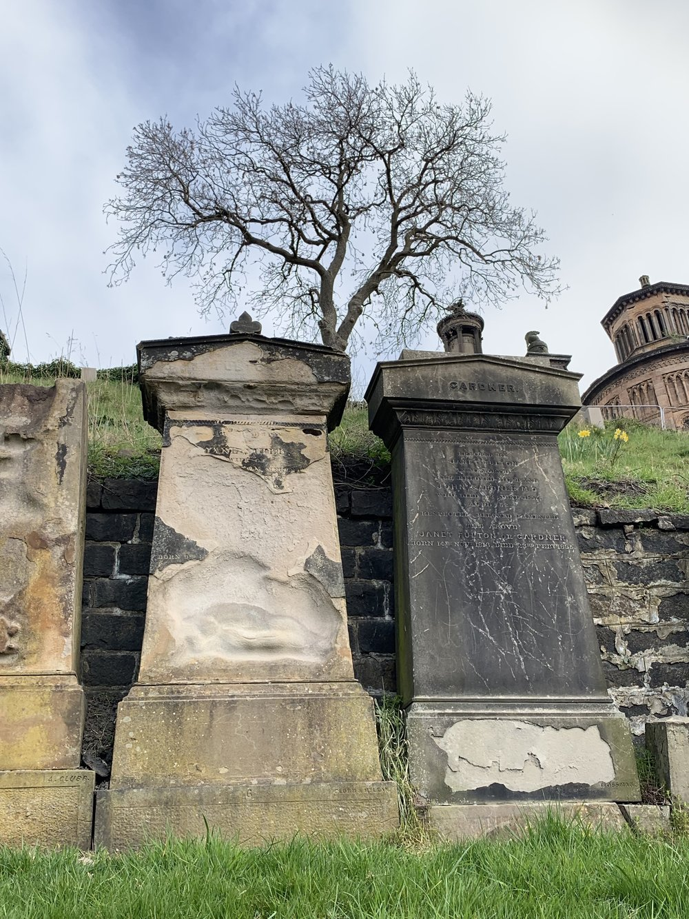 Time erases the names on gravestones.