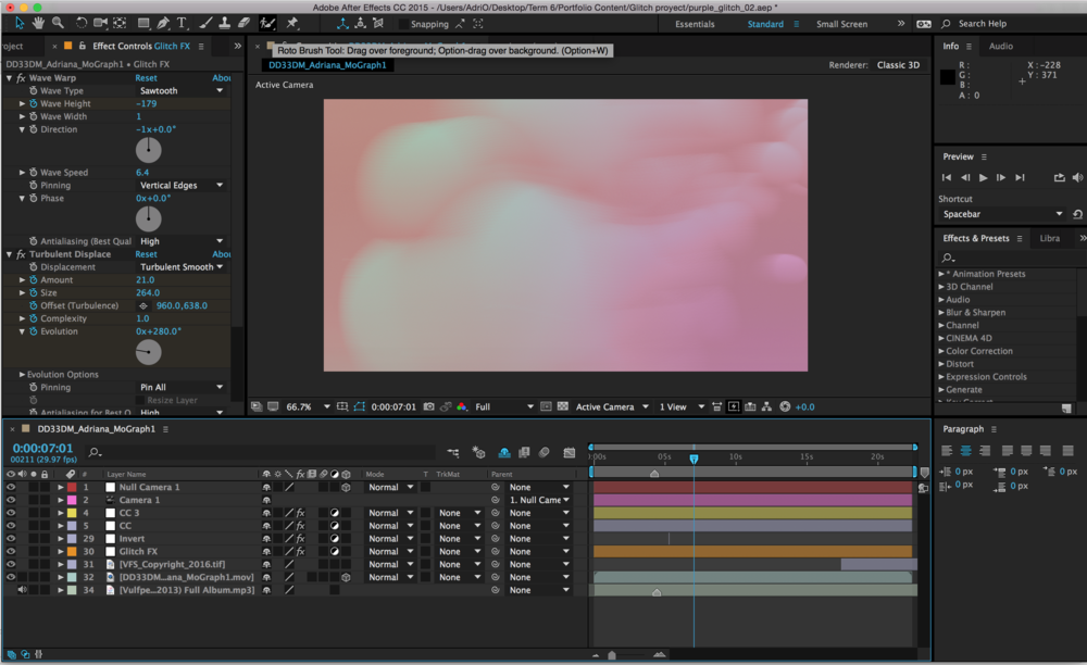 Post Production in After Effects