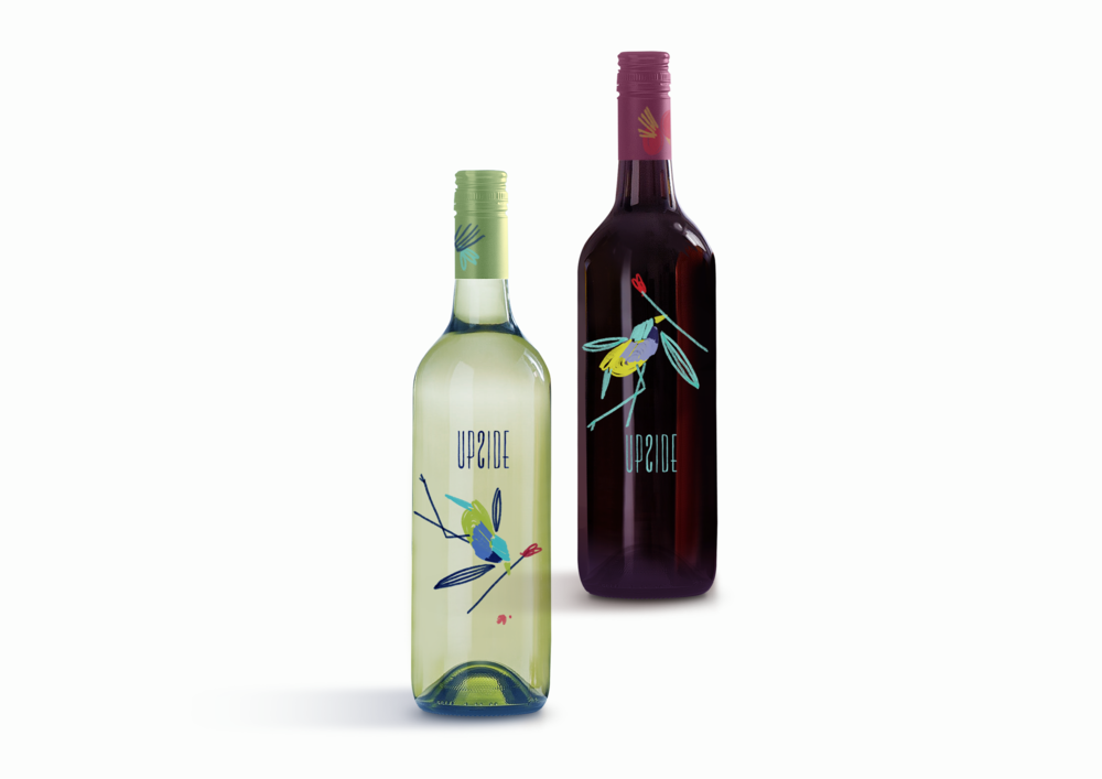 Upside Wine | Graphic Design