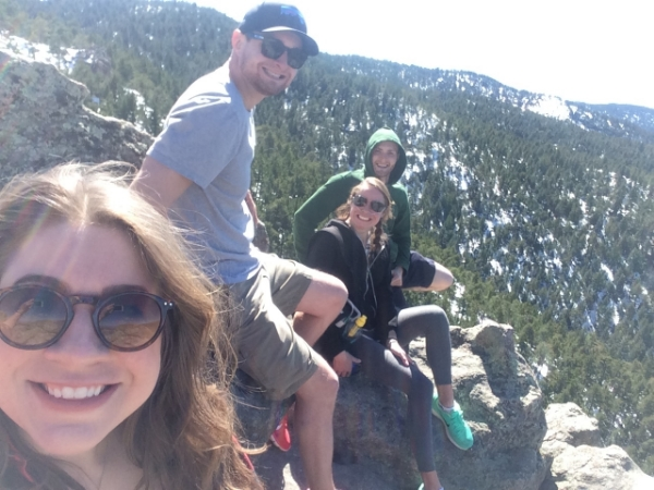 Edge of the mountain selfie!