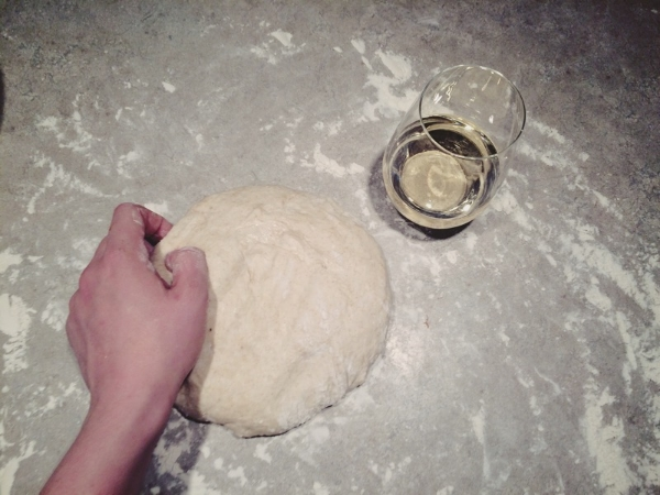 Dough and wine