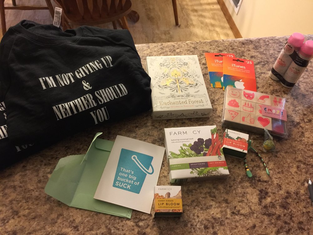 A second cheer up and good vibes package from my friend Ashley in Denver!