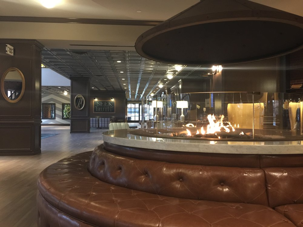 The Commons hotel has a neat fire place ring