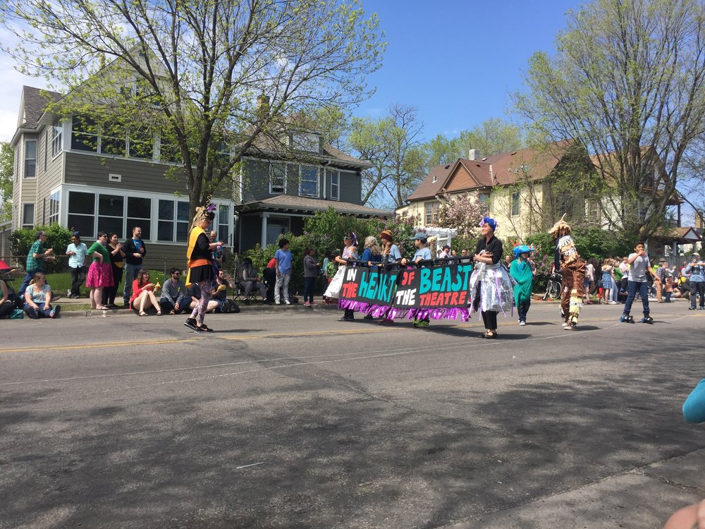 the start of the May Day parade