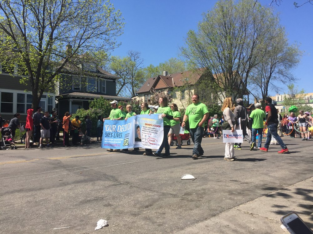 Donate life even walked in the parade!