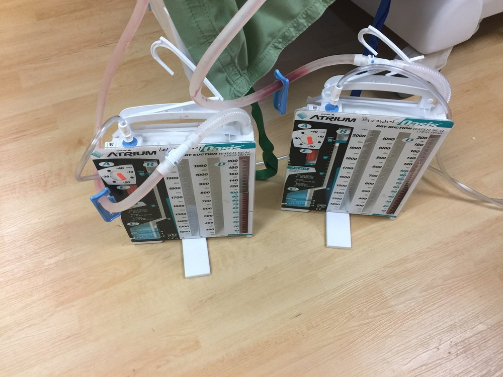Two chest tube collectors