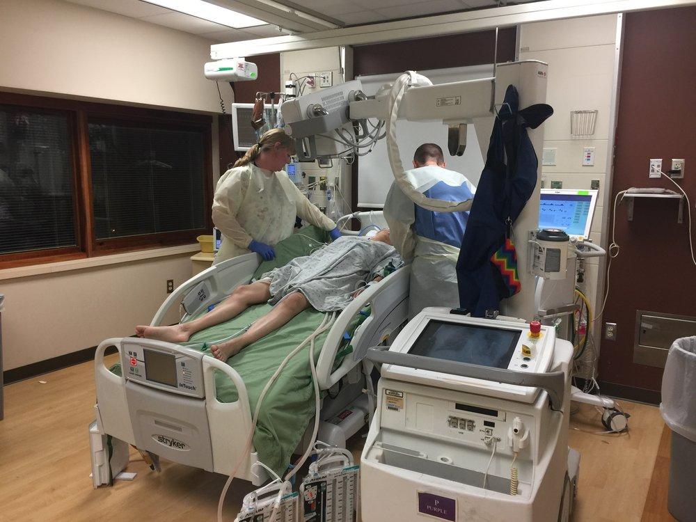 Rima in the ICU - X-ray.