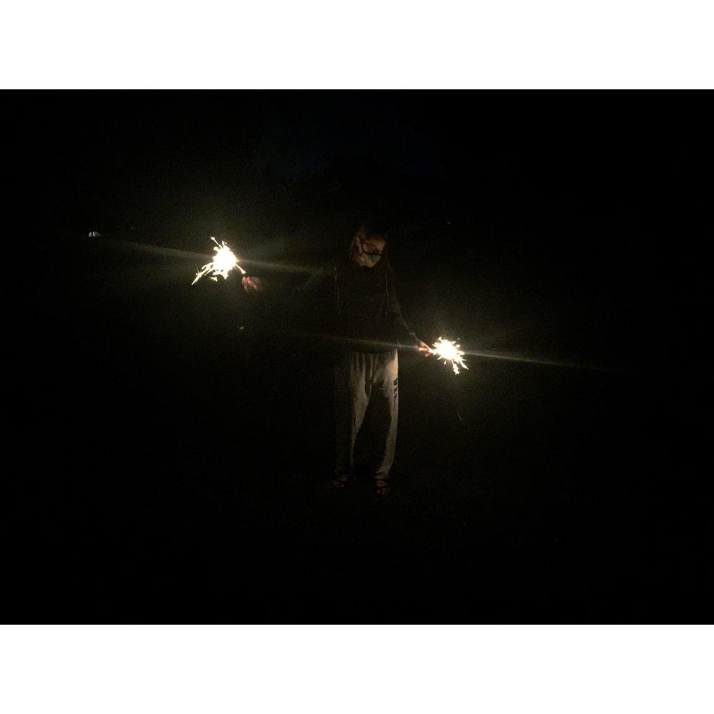 back yard sparklers