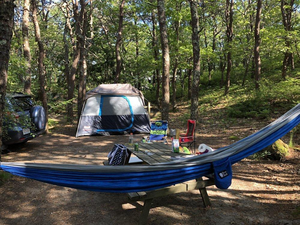 Camping in Cape Cod near Ptown.