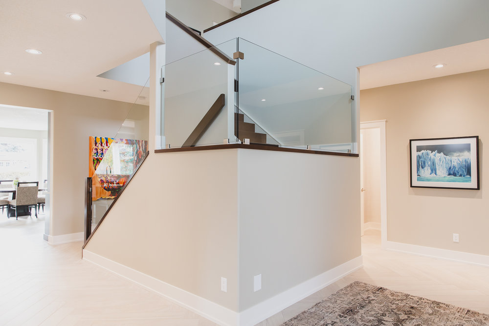 Modern Stair Design with Glass Railings