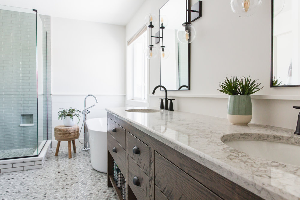 'Industrial Chic' Ensuite Sherwood Park -