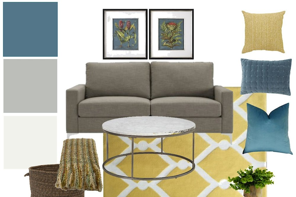 2. Design Board - Then we get to work on pulling together your selections. They are presented to you via a design board with visual representations of our recommended items, based on all the info you have provided us.