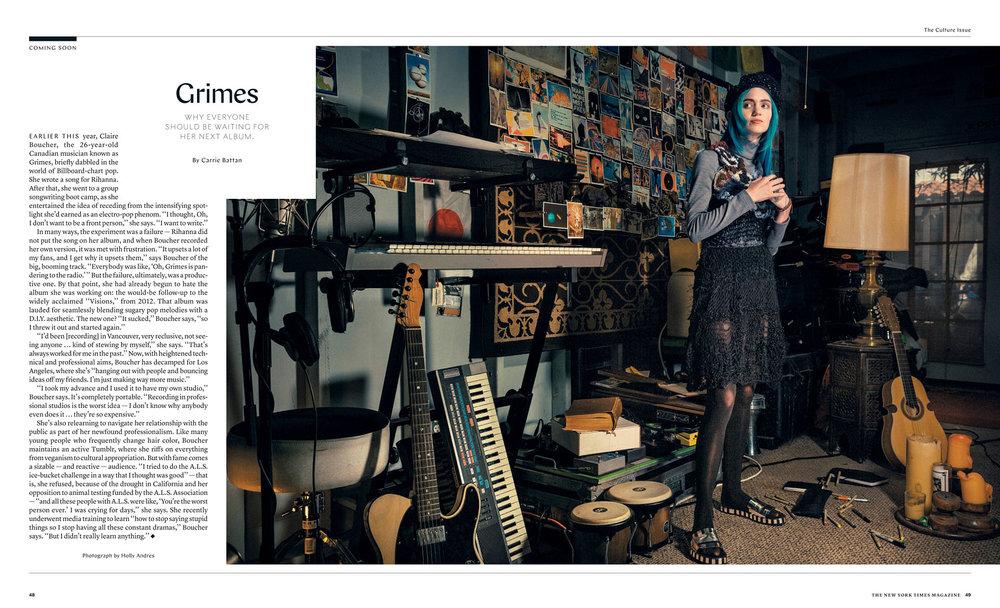 NYT Magazine   Grimes