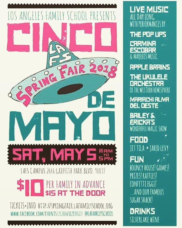 We are proud to announce our debut performance at LA Family School's annual festival today (Saturday). We should be playing our set around 3:30pm, but come early to enjoy the other fine musical acts and family entertainment! #ukulele #livemusic #lafamilyschool #uowh #cincodemayo #socal #uke #gig #styx #superorganism #misse #duranduran #gameofthrones #cafetacvba #hamilton #starcrawler #radiohead #neilyoung #queen