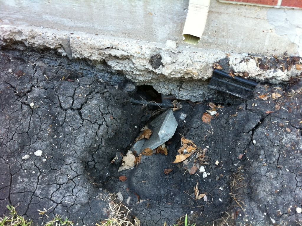 spout may cause foundation repairs