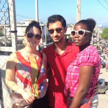 Anna and Rohail with program manager Stephana