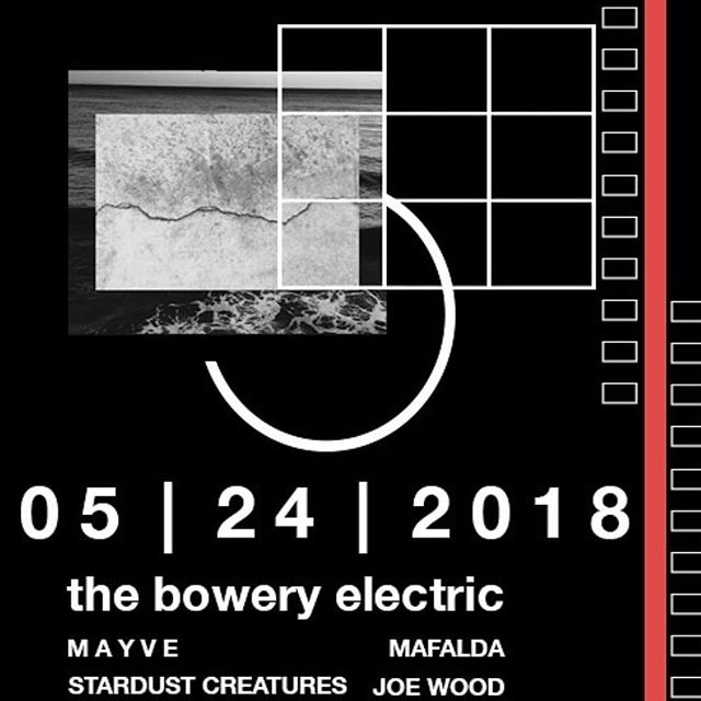 @stardust_creatures , @mafalda , @mayvemusic , @joeywood , and all the cool kids will be at @theboweryelectric tonight. We hope to see you there 🚀 (Doors at 7| @stardust_creatures at 9| $10 (📷@mayvemusic )