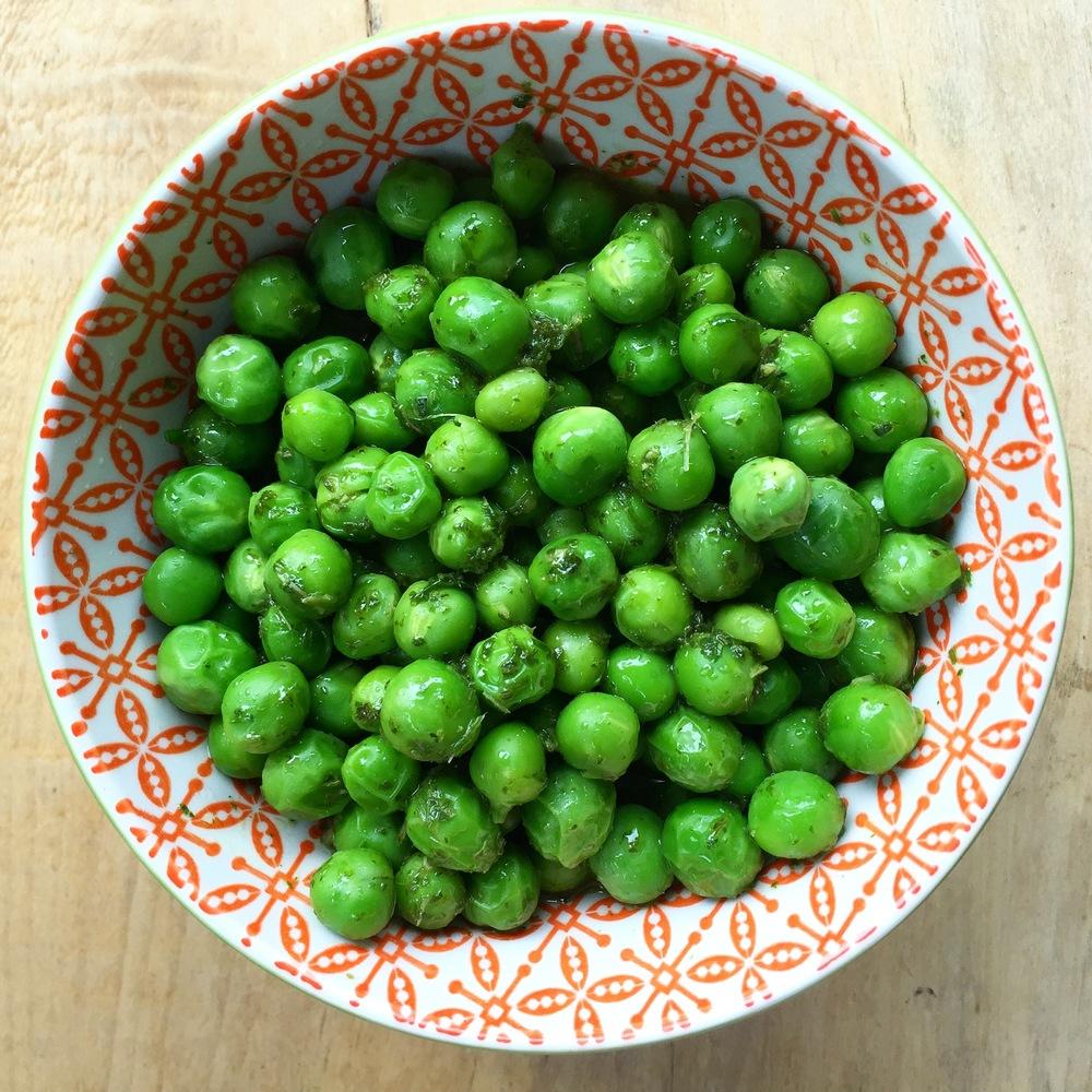 peas-mint-cilantro-vinaigrette