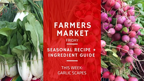farmers market friday - garlic scares