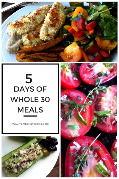 five days of whole 30 meals