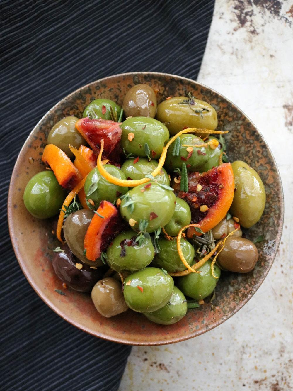 Citrus Baked Olives