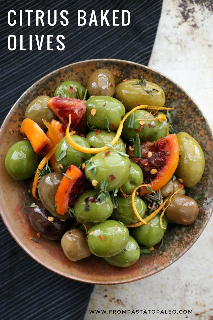 Paleo Citrus Baked Olives