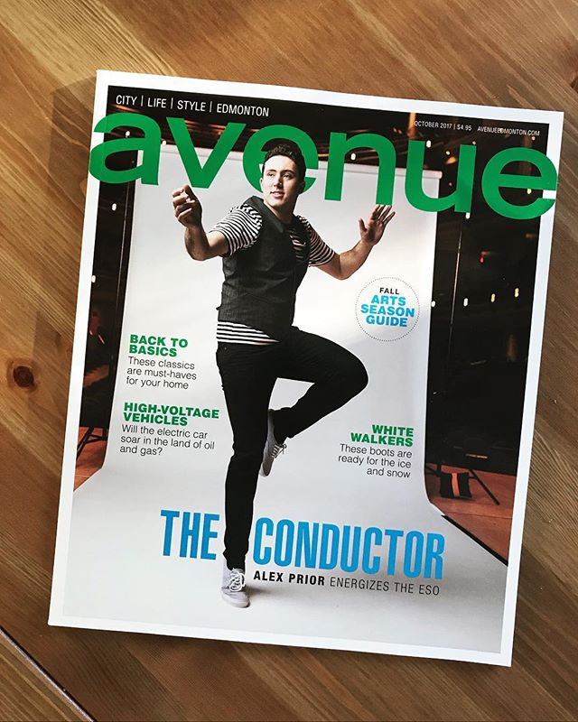 Cover month! Thanks for a great project @avenue_edmonton @kimleelarsons @terribelley and for the help @mattjacula. Alex is a great addition to the ESO! Can't wait to see a show. • • • • • #editorial #portrait #cover #conductor #editorialphotographer  #portrait #yeg #avenue #yegphotography