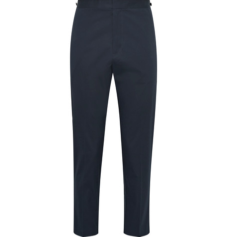 THEORY Borough Cotton-Blend Twill Trousers