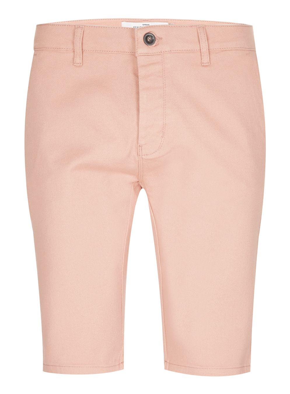 Topman Pink Stretch Skinny Chino Shorts