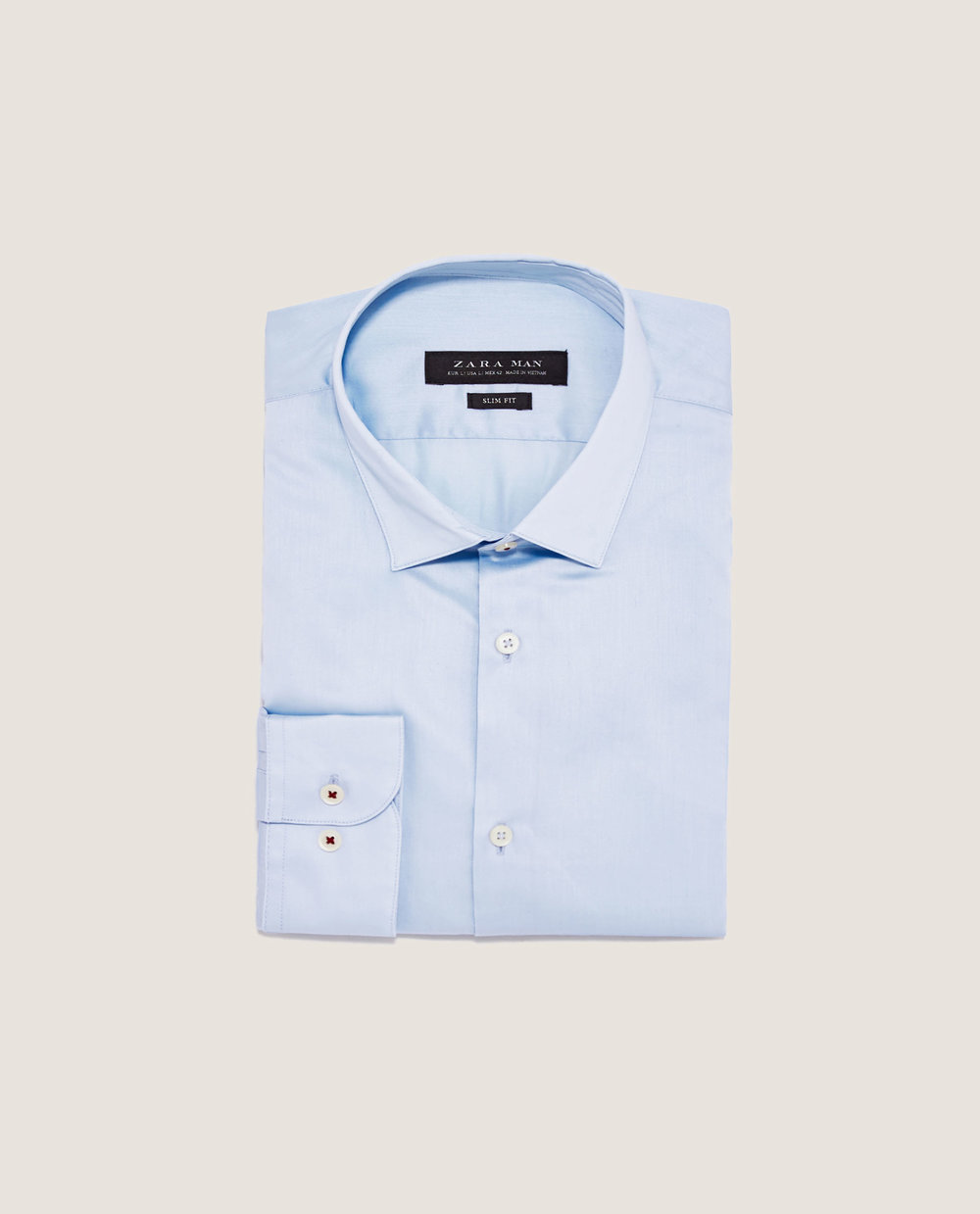 TWILL SHIRT WITH SHORT POINT COLLAR