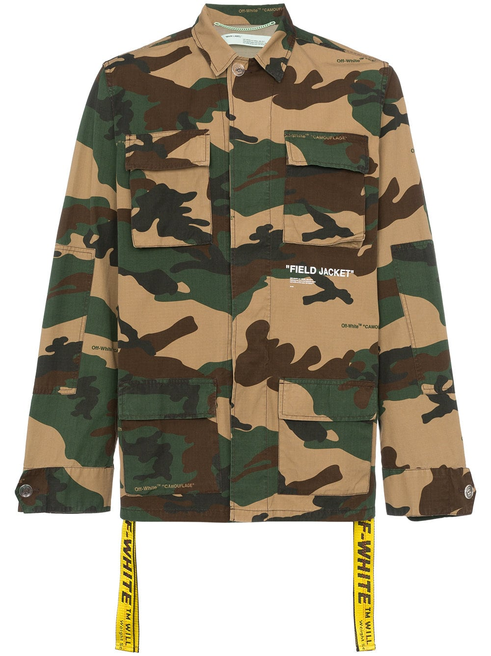 Off White Camp Cotton Field Jacket