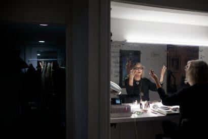 Yanka at her work space