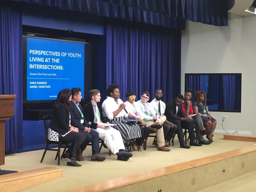 Young people experiencing homelessness speak at the White House