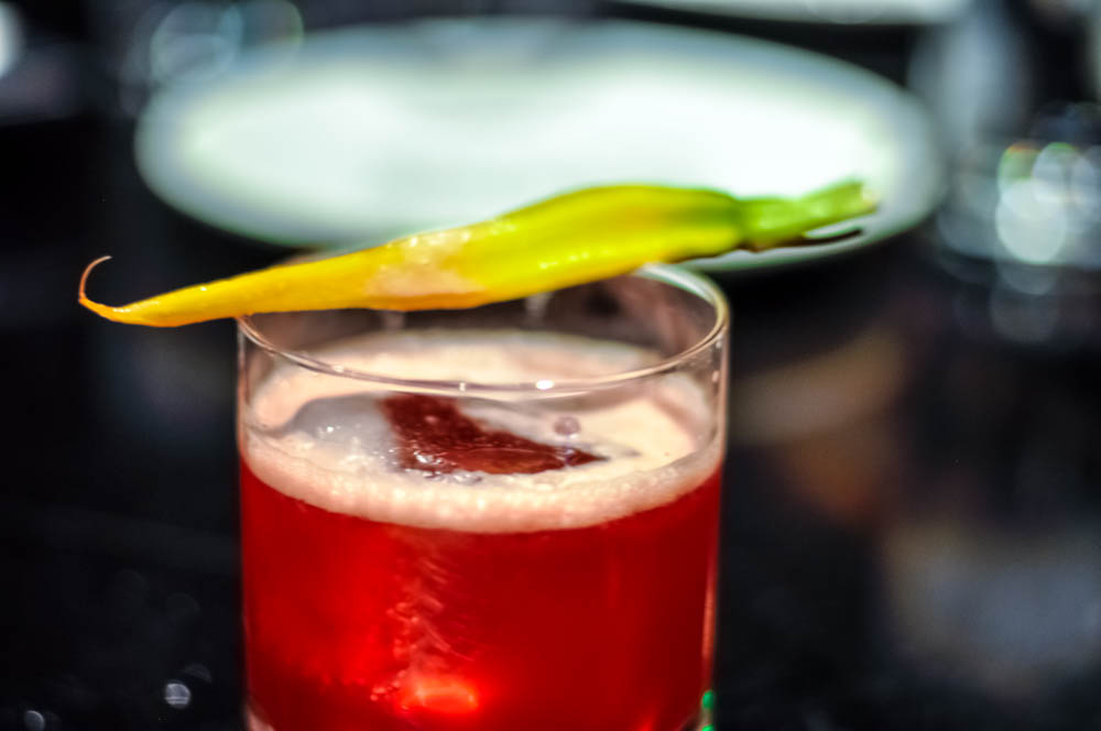 Garden Grace - Denver dry gin, fresh beet juice, honey ginger shrub, sparkling apple cider