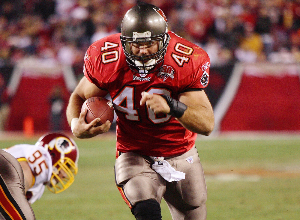 Mike Alstott was one of my favorite white running backs in the NFL, but after becoming Purdue's all-time leading rusher with 3,635 yards, he was drafted in the second round by Tampa Bay to be used as a running fullback and never eclipsed 1,000 yards rushing in a season in 11 years with the Buccaneers.