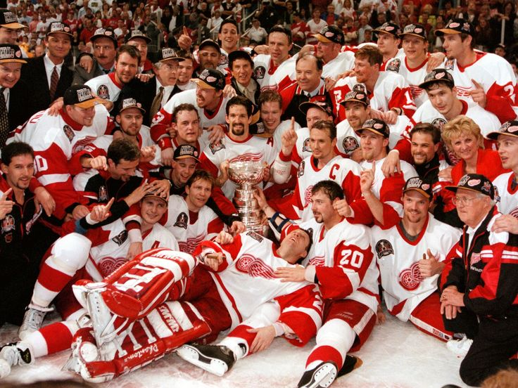 The Detroit Red Wings have won four Stanley Cups since I started watching hockey in 1996. This first one in 1997 is probably still my favorite. Incredible team.