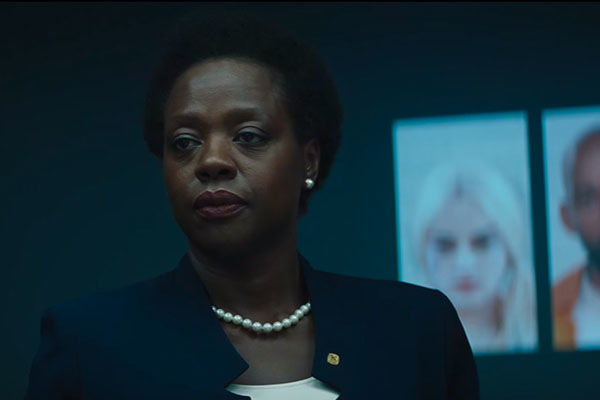 Viola Davis IS Amanda Waller, quite possibly the baddest and most intimidating character in the whole movie. Fantastic job from one of the best actresses in the business today.