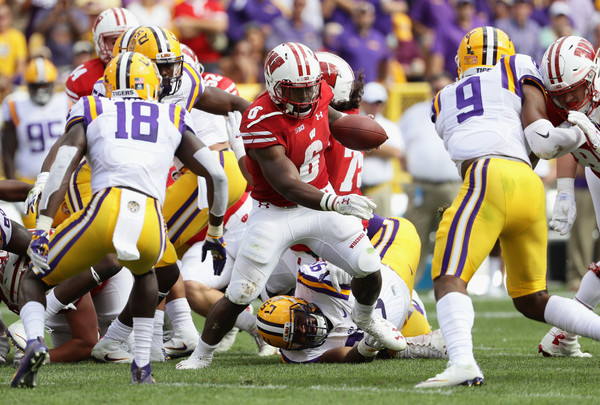 Wisconsin RB Corey Clement rushed for 86 yards and a touchdown in the Badgers 16-14 win over LSU at Lambeau Field in Green Bay.