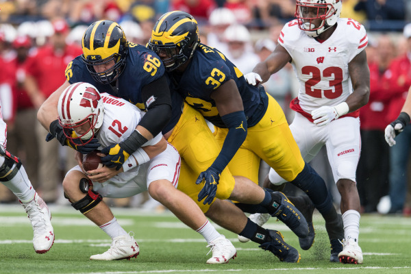MGOBLUE.COM  The Michigan defensive front anchored by seniors Ryan Glasgow and Taco Charlton are 3rd in the nation with 20 sacks this season, only one behind the co-leaders Washington and the Ohio University Bobcats.