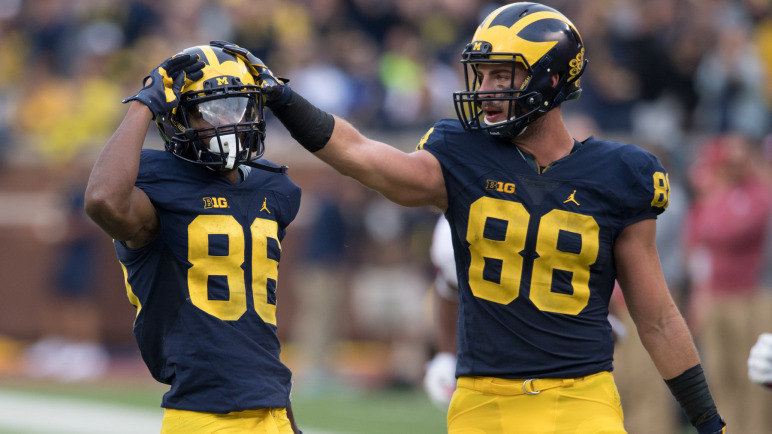 MGOBLUE.COM  Seniors Jehu Chesson and Jake Butt and their leadership are a big part of the Wolverines' 5-0 start this season.