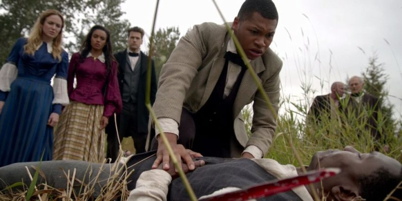 "My favorite episode of Legends of Tomorrow where the team confronts American slavery head on and doesn't mince a single word when dealing with the subject......right down to a group of slaves singing ""Follow the Drinking Gourd"" at one point in the episode. Outstanding."