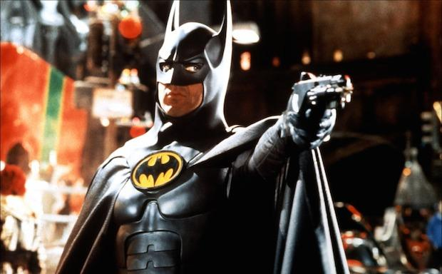 Michael Keaton as Batman in one of the few things that lets you know this is really a sequel......even though they did redesign his costume.