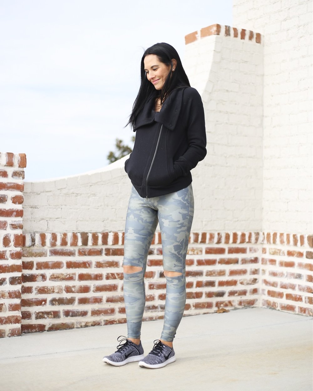 Nike sneakers | leggings | jumper similar | photo: Sydney Clawson