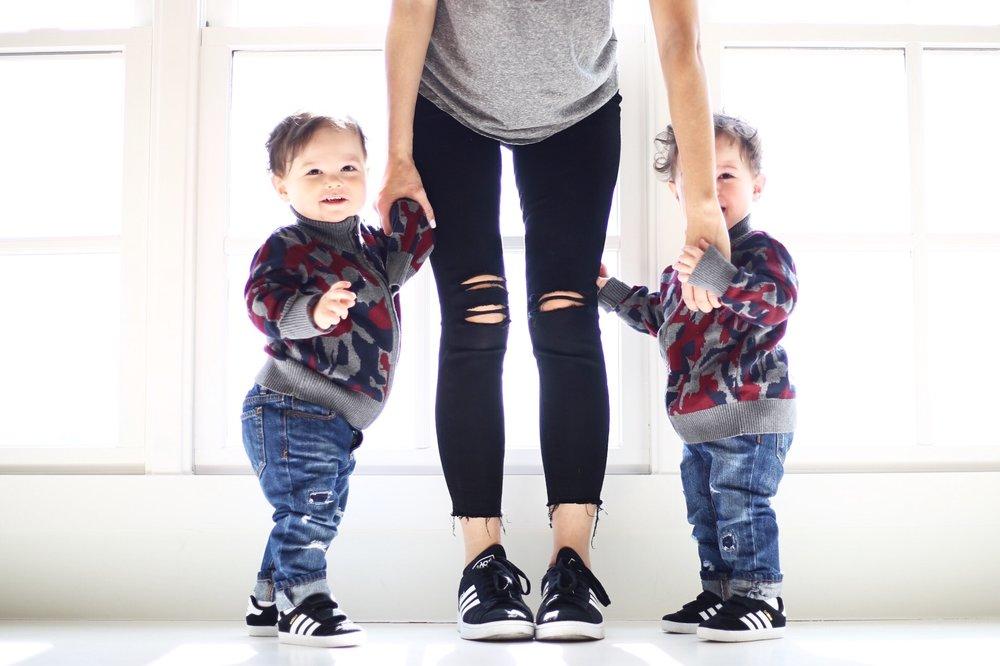 Paige  denim  |  adidas  | toddler  adidas  | toddler  denim  | toddler sweater  similar  | photo by Sydney Clawson |