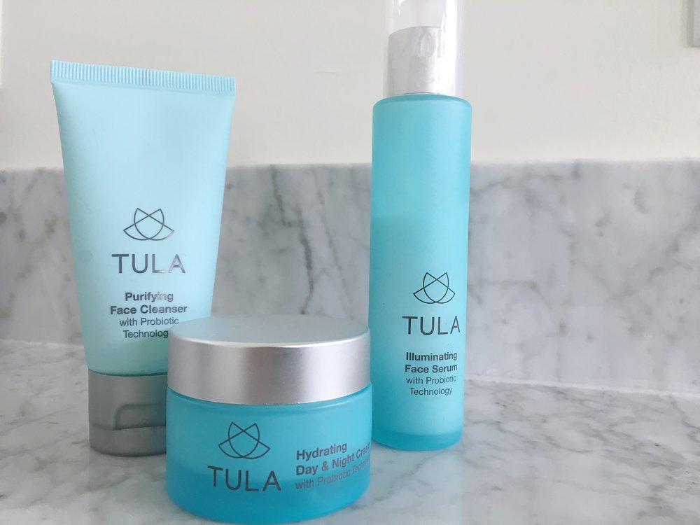 |  Tula cleanser  |  Tula day and night cream  |  Tula face serum  |
