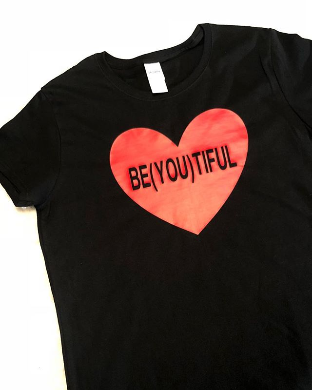 Custom red BE(YOU)TIFUL heart Tee • ❤️❤️❤️• email us and let's discuss your. Custom order • #tshirtdesign #tshirt #fashion #tshirtprinting #lifestyle #blogger #shirtdesign #tshirtlife