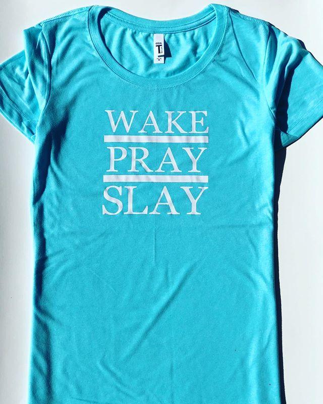 WAKE • PRAY • SLAY -  shopexploringshawna.com •  #tshirts #tshirtdesign #tshirt #fashion #tshirtprinting #lifestyle #blogger #shirtdesign #tshirtlife