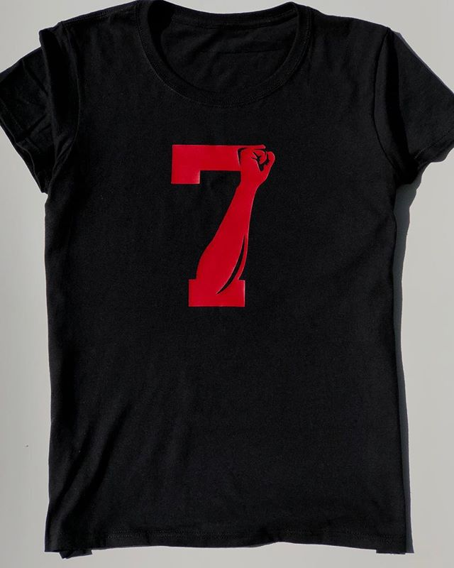 Show your support for Colin Kaepernick with this #7 Fist Tee • available in both men's and women's sizes • just click the link in the bio to order •  #tshirts #tshirtdesign #tshirt #fashion #tshirtprinting #lifestyle #blogger #shirtdesign #tshirtlife #nikeforkaepernick #kaepernick
