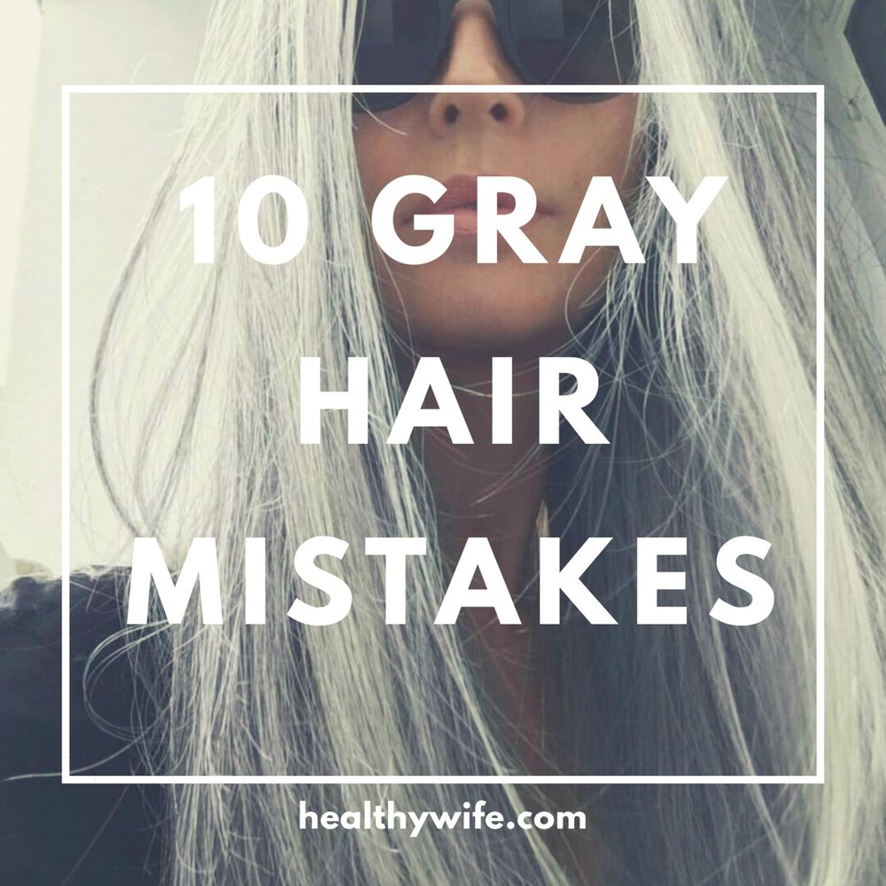 how to let hair go gray naturally